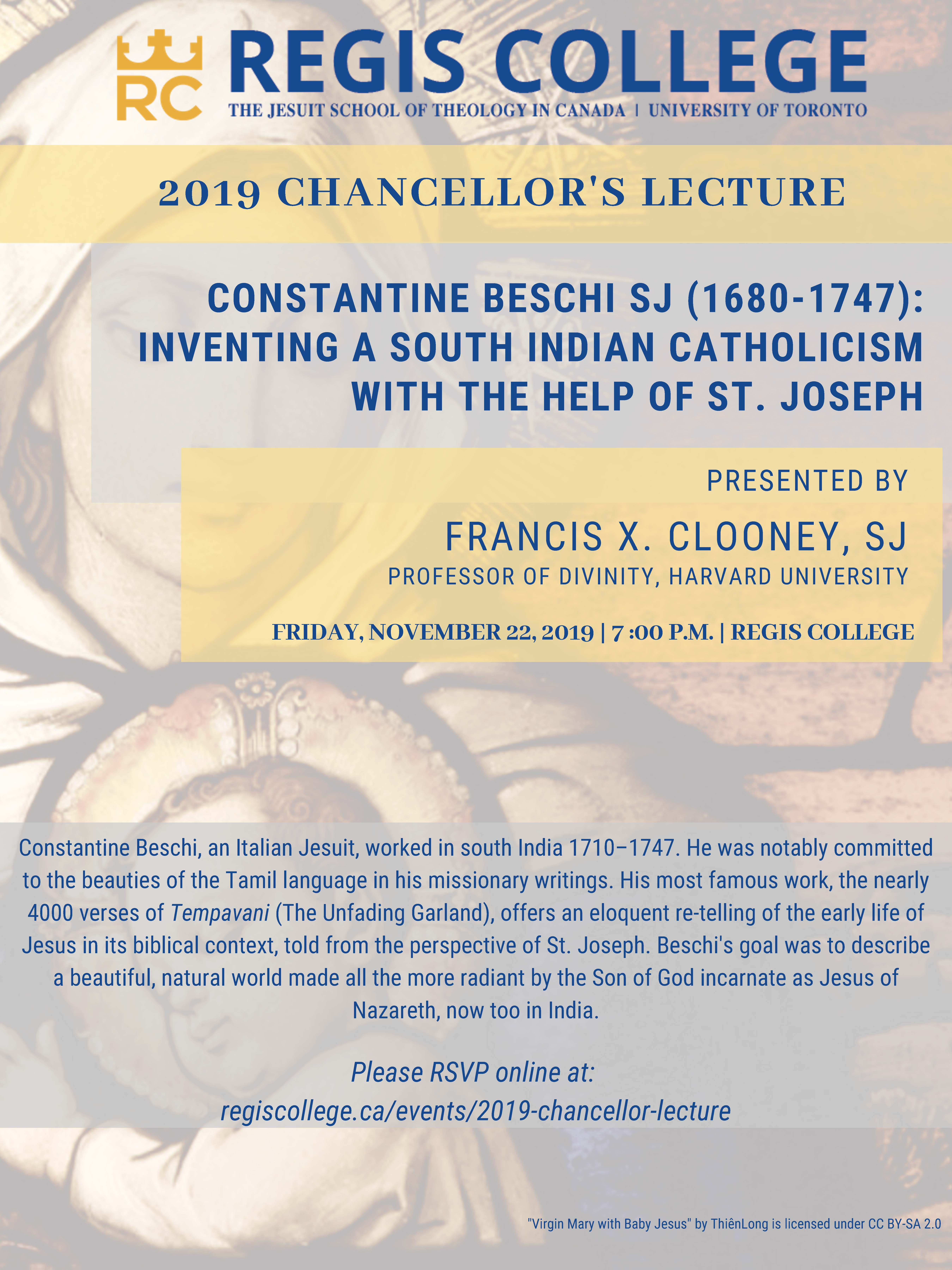 2019 Regis College Chancellor's Lecture with Fr. Francis X. Clooney, SJ