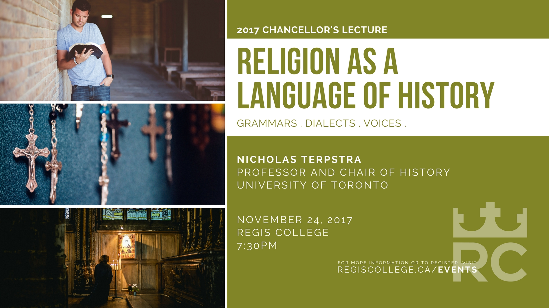 Regis College 2017 Chancellor's Lecture - Religion as a Language of History
