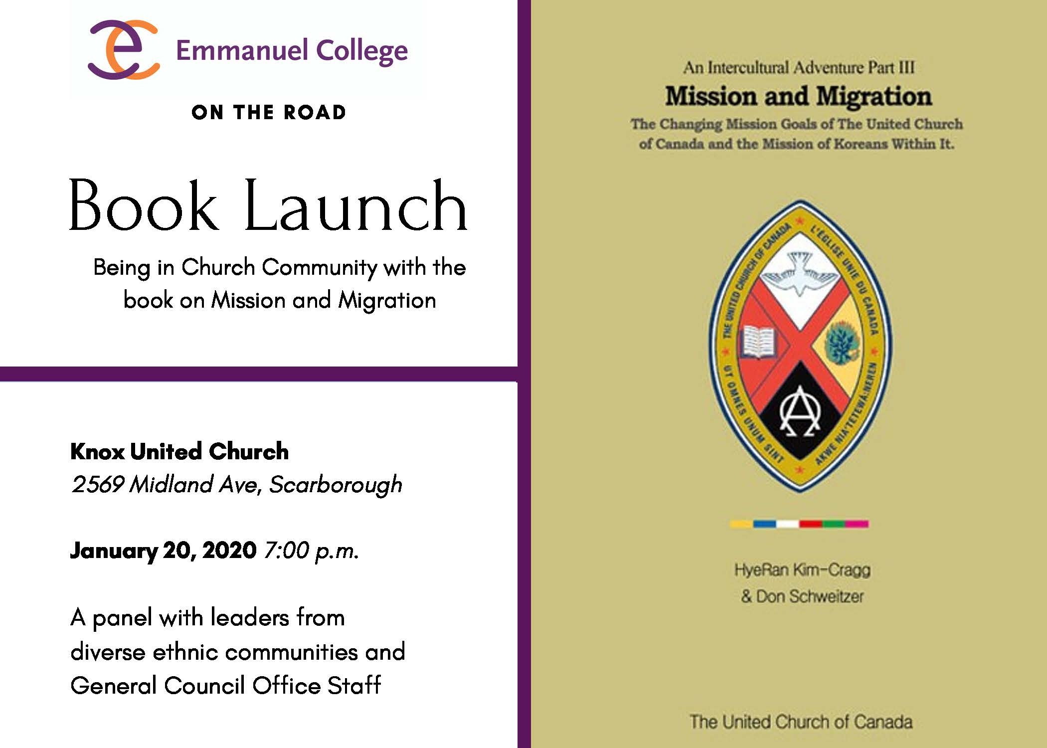 Book Launch - Being in Church Community: Mission and Migration