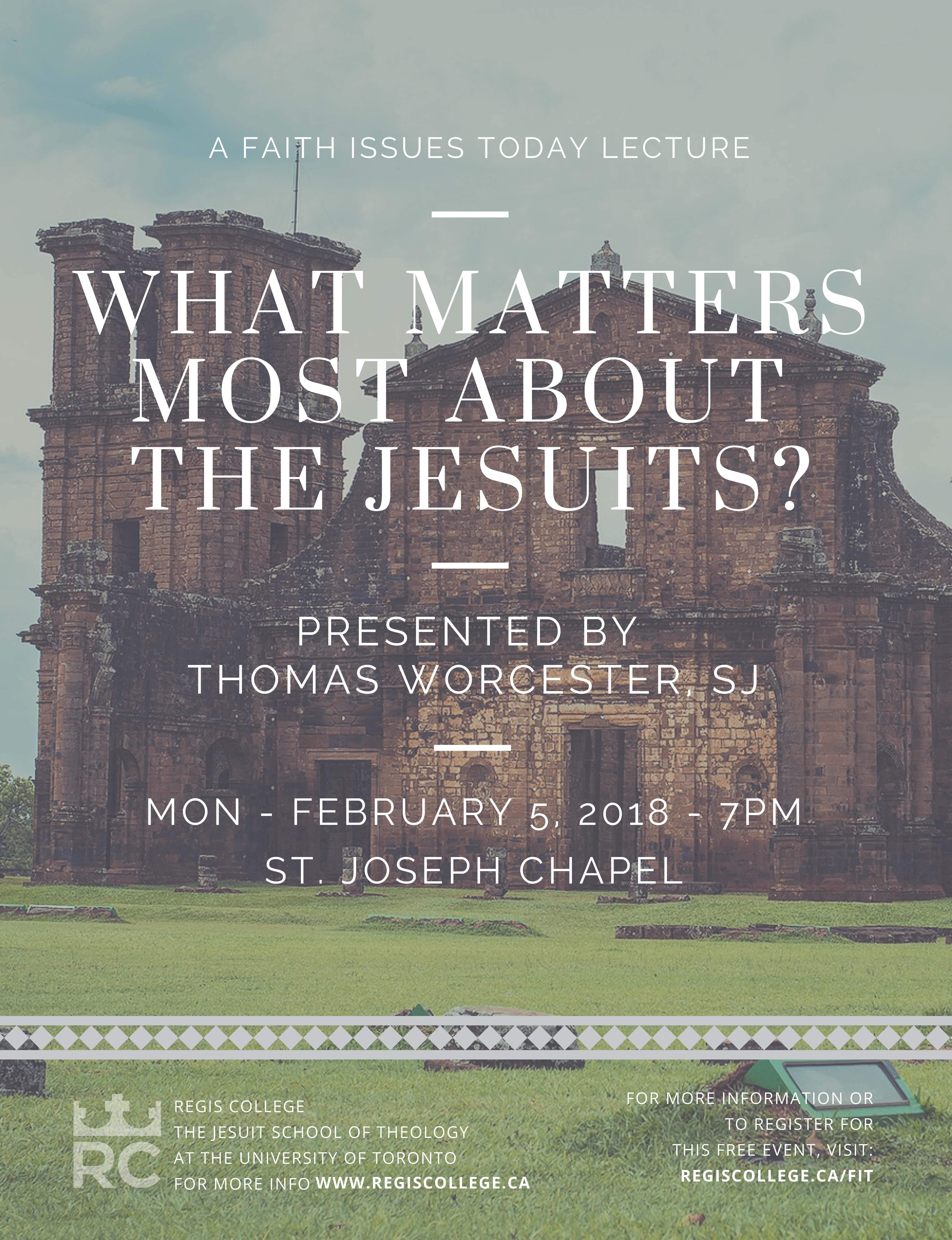 Faith Issues Today: What Matters Most About the Jesuits