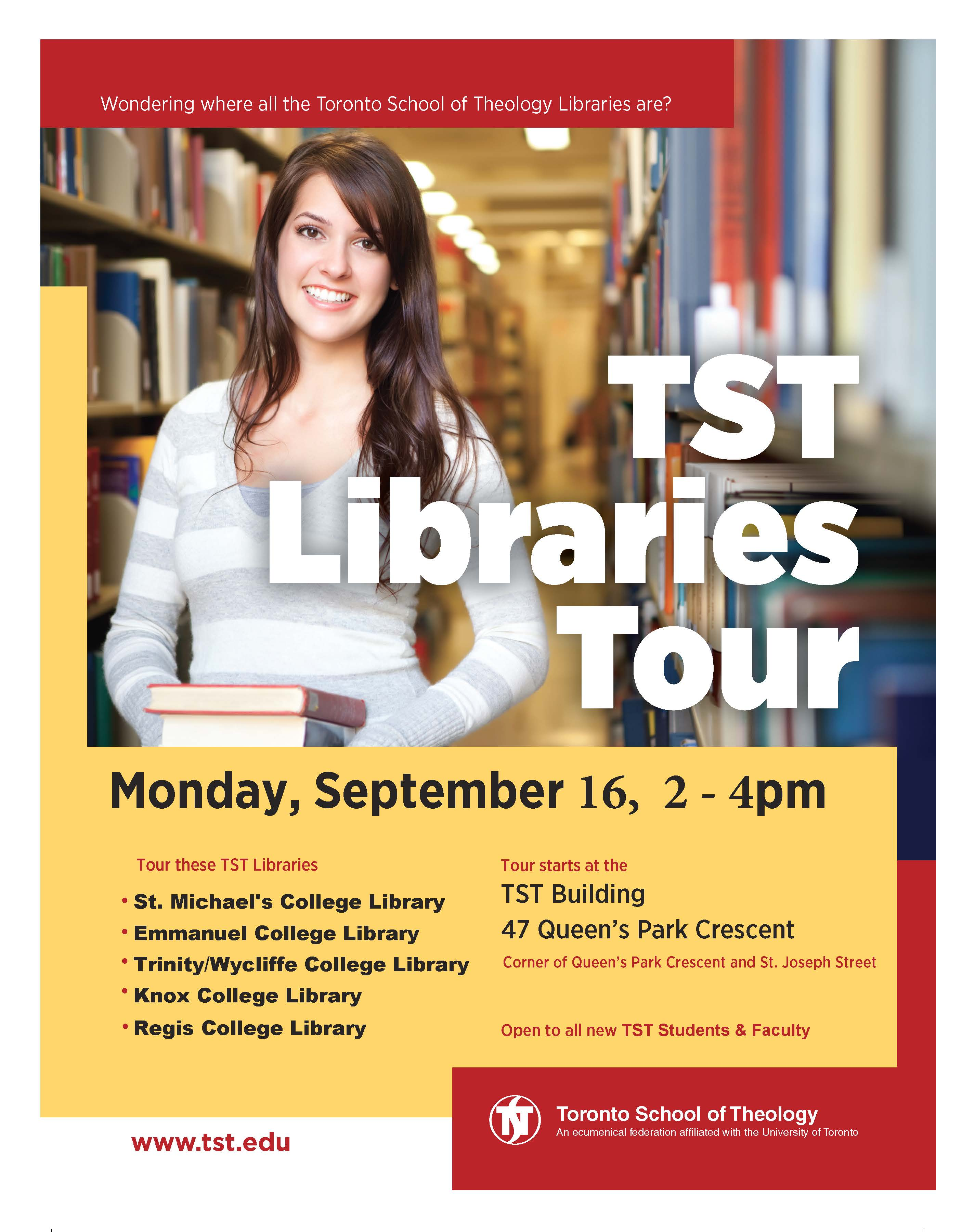 TST Library Tour for Students and Faculty