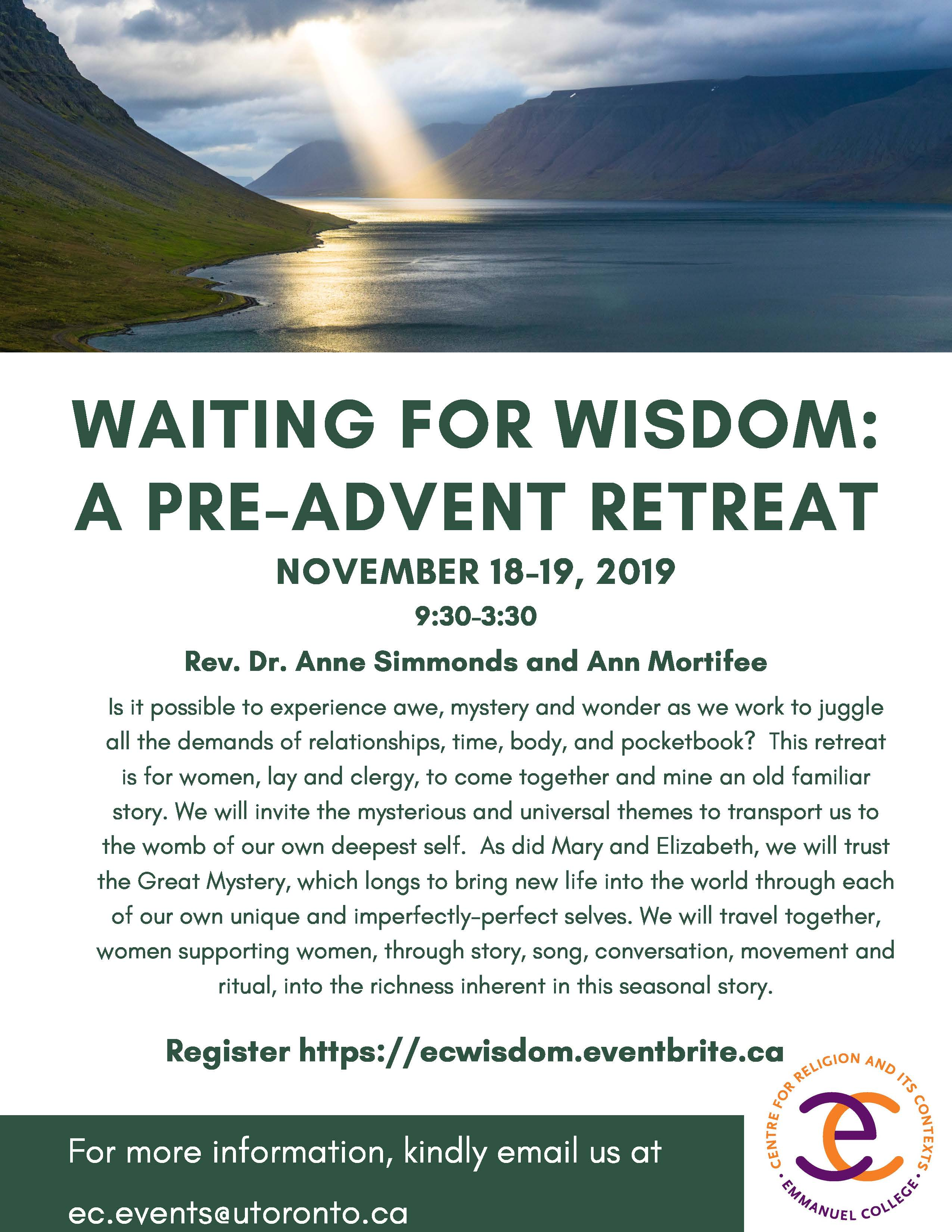 Waiting for Wisdom: A Two-Day Pre-Advent Retreat