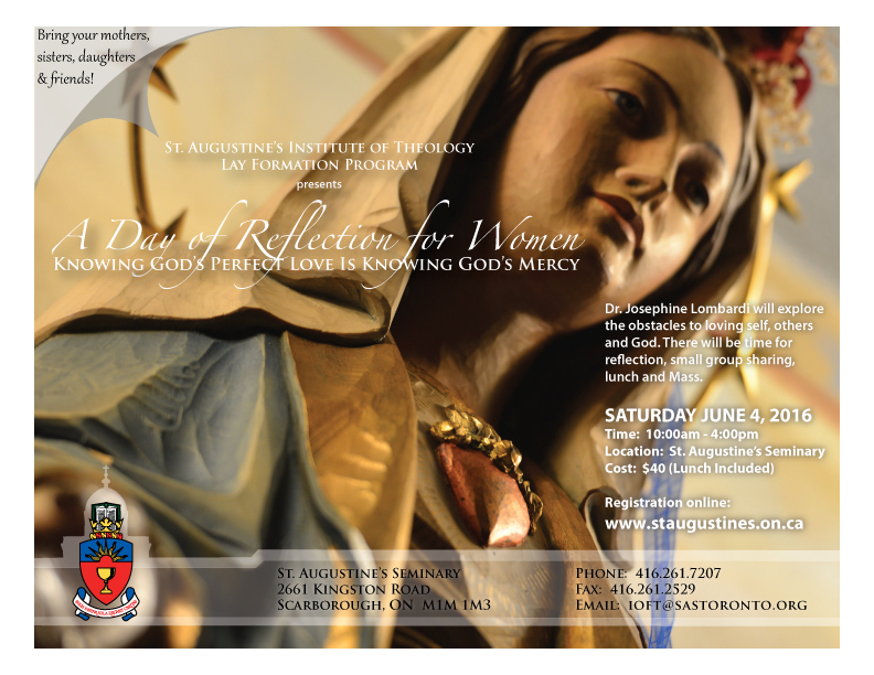 Lay Spiritual Formation Program: A Day of Reflection for Women, June 4