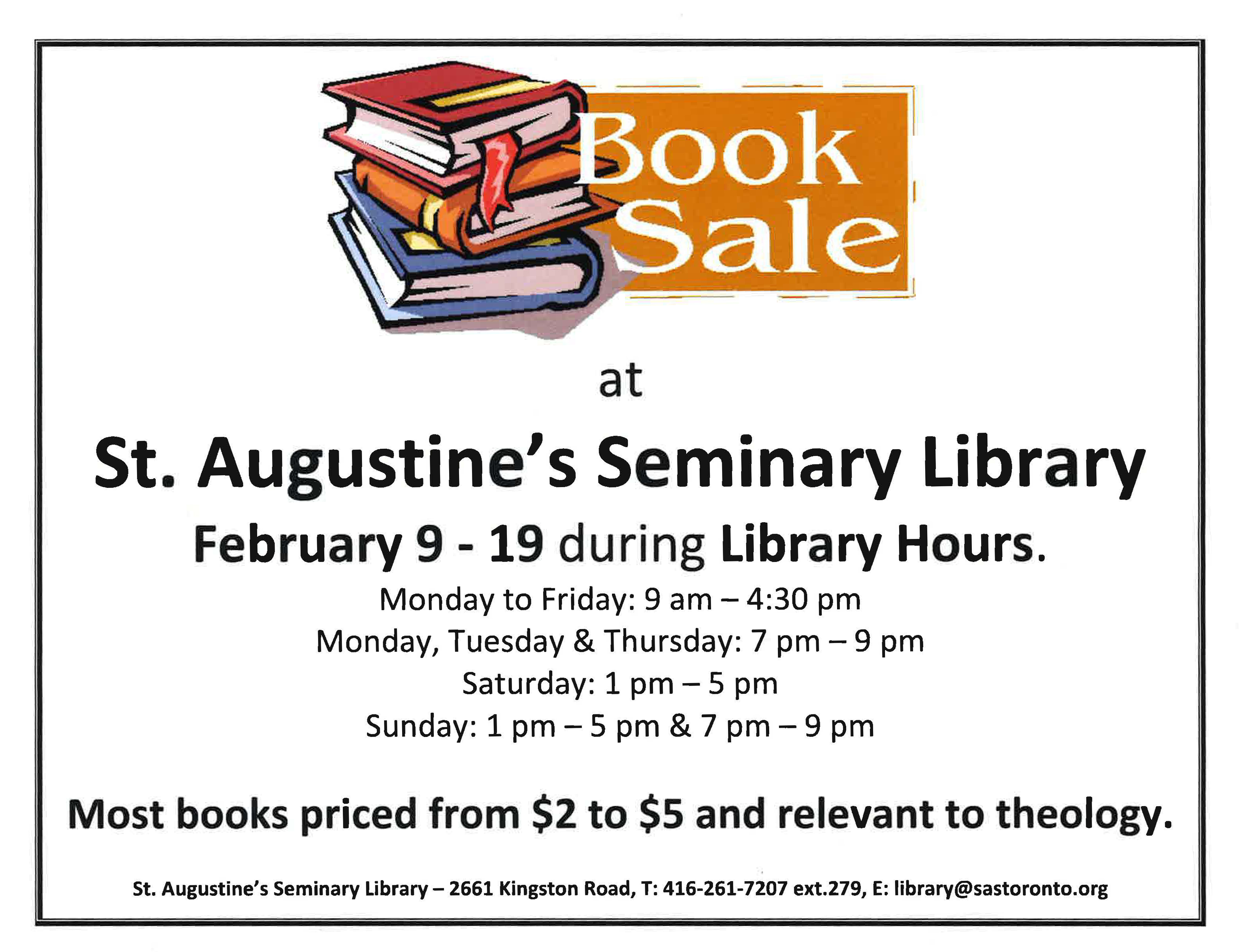 St. Augustine's Seminary Library Book Sale