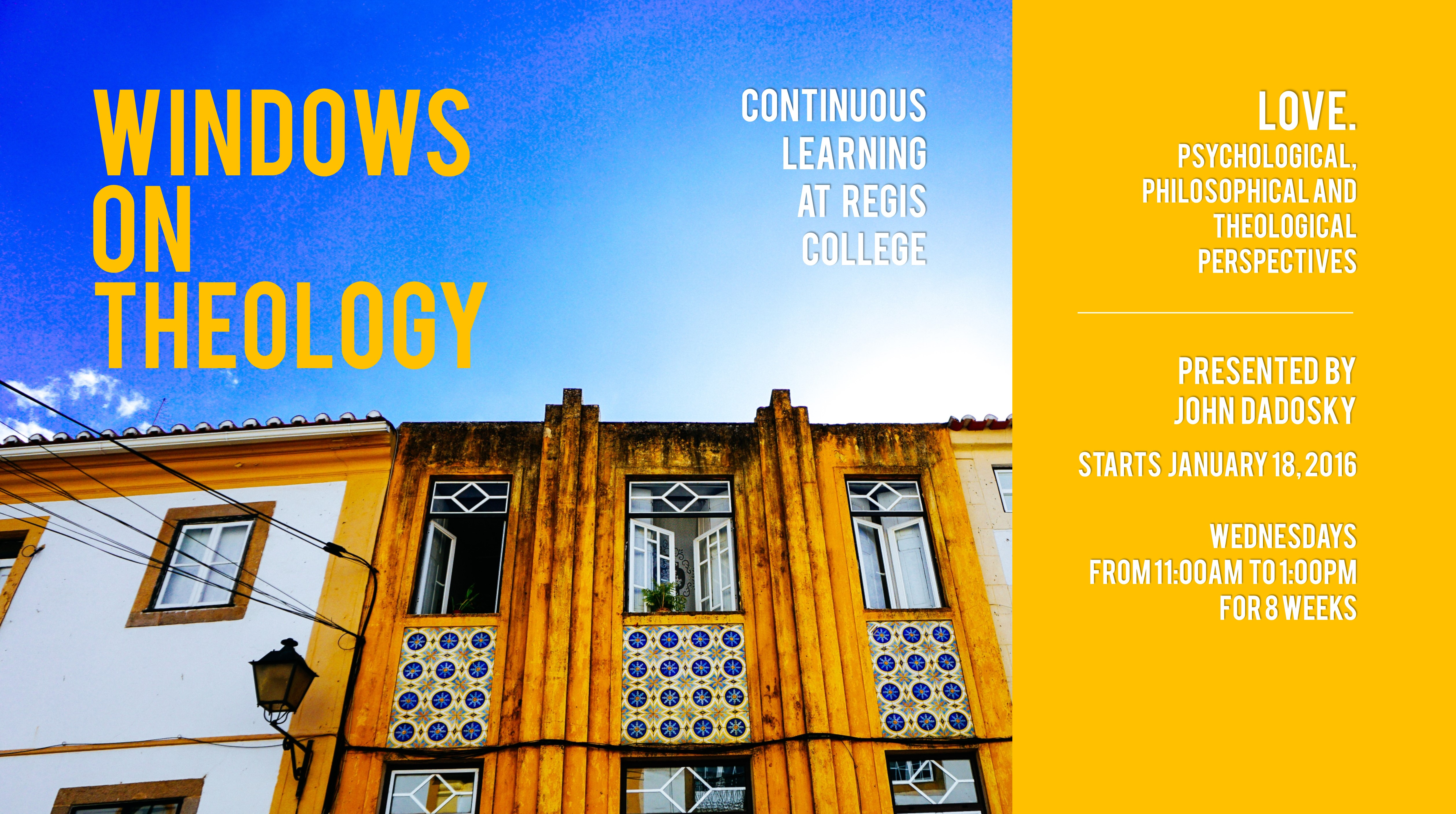 Windows on Theology Continuing Studies Course January 2017